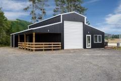 American barn house build Taupo